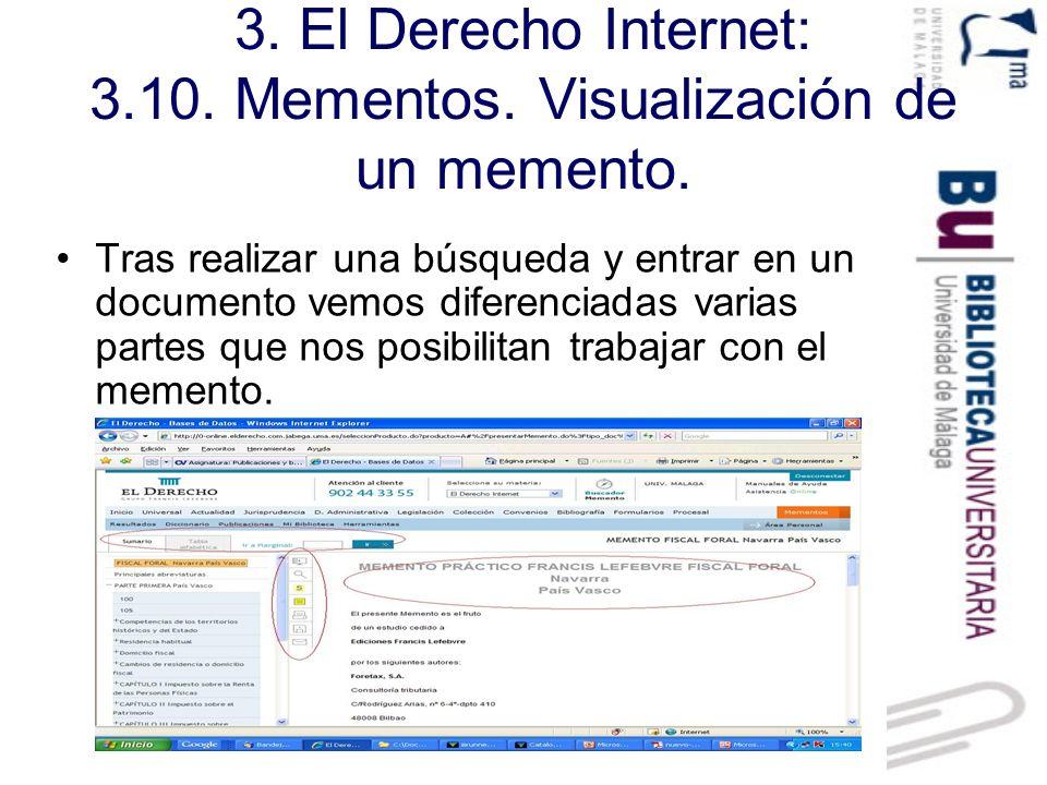 3. El Derecho Internet: 3.10. Mementos. Visualización de un memento.