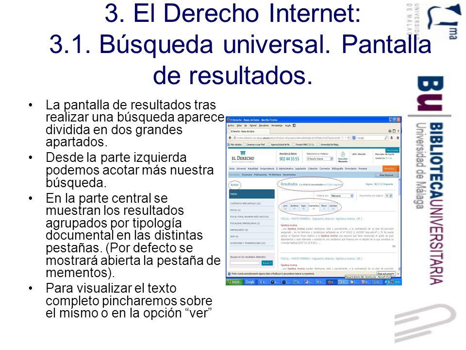3. El Derecho Internet: 3. 1. Búsqueda universal
