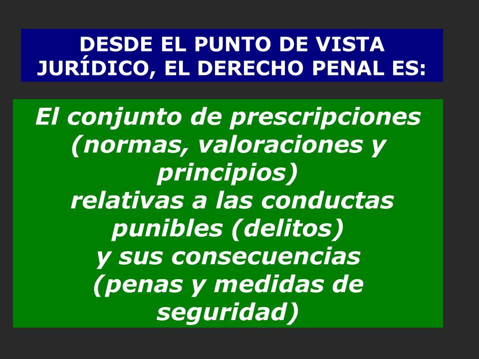 El conjunto de prescripciones (normas, valoraciones y principios)