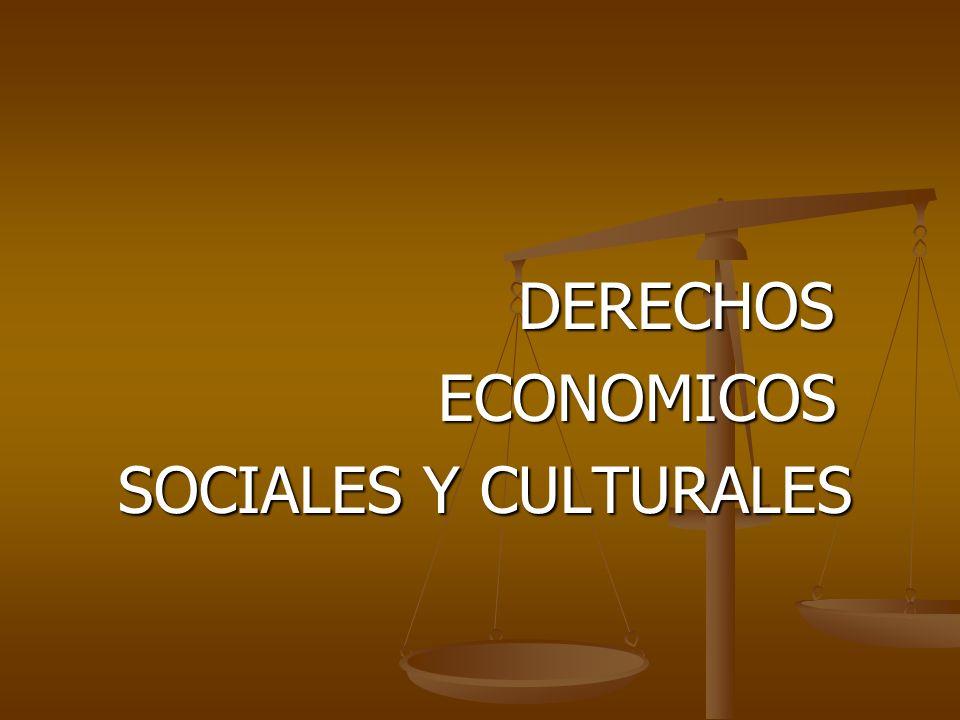 DERECHOS ECONOMICOS SOCIALES Y CULTURALES