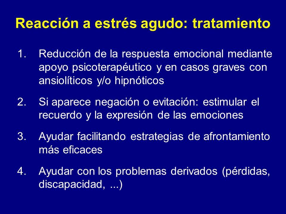 Reacción a estrés agudo: tratamiento