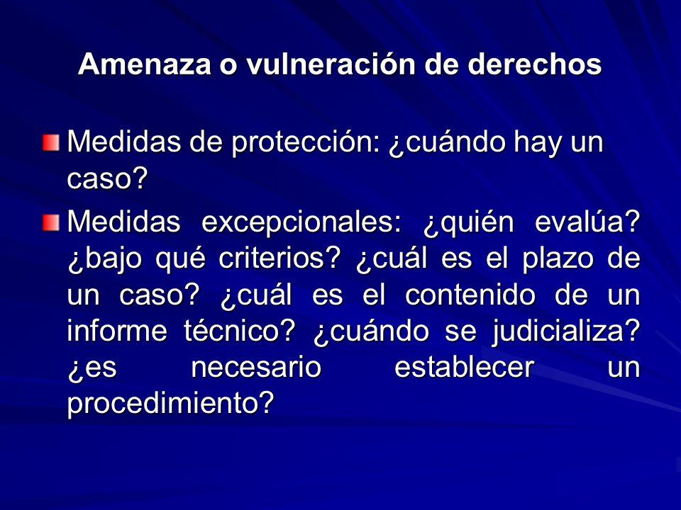 Amenaza o vulneración de derechos