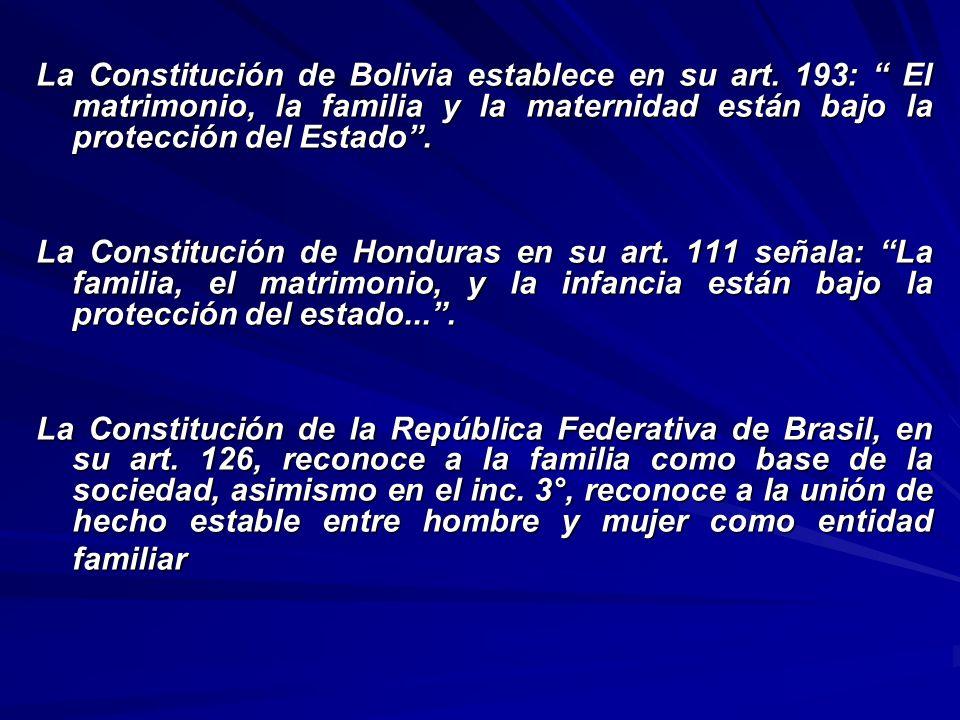 La Constitución de Bolivia establece en su art