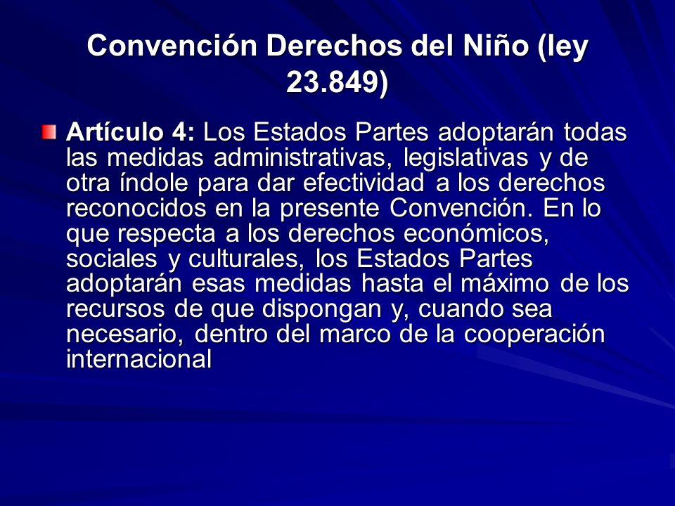 Convención Derechos del Niño (ley 23.849)