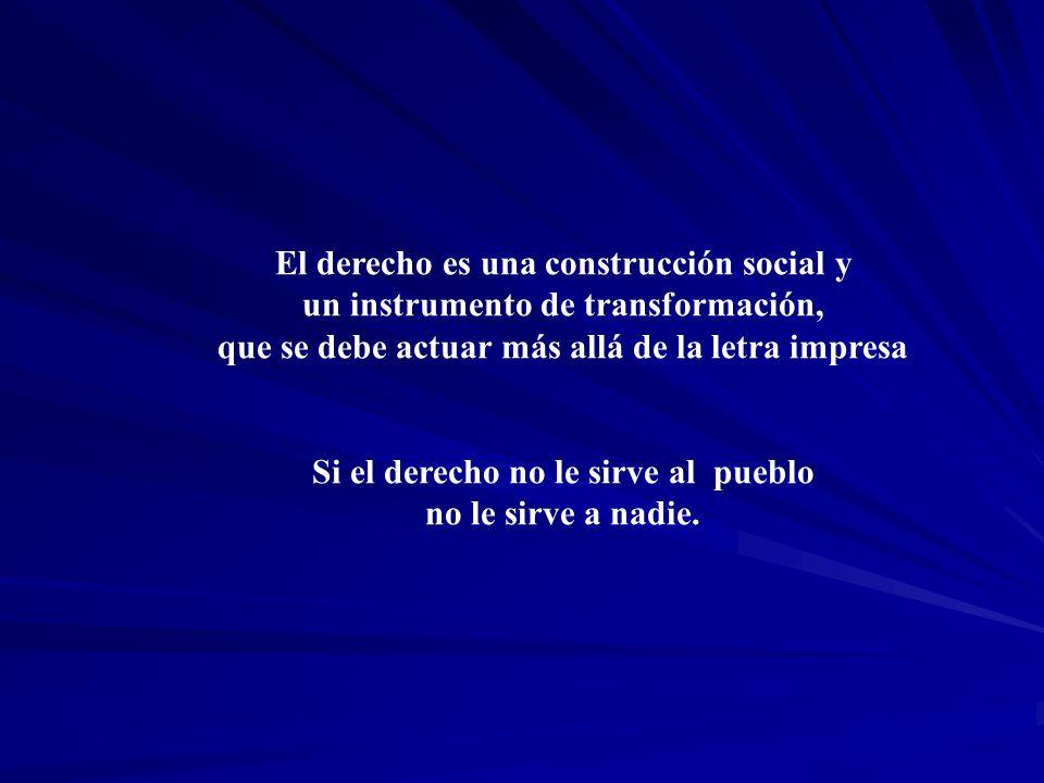 El derecho es una construcción social y