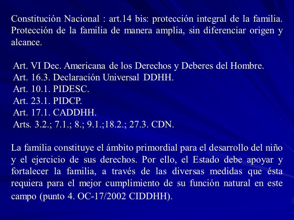 Constitución Nacional : art. 14 bis: protección integral de la familia