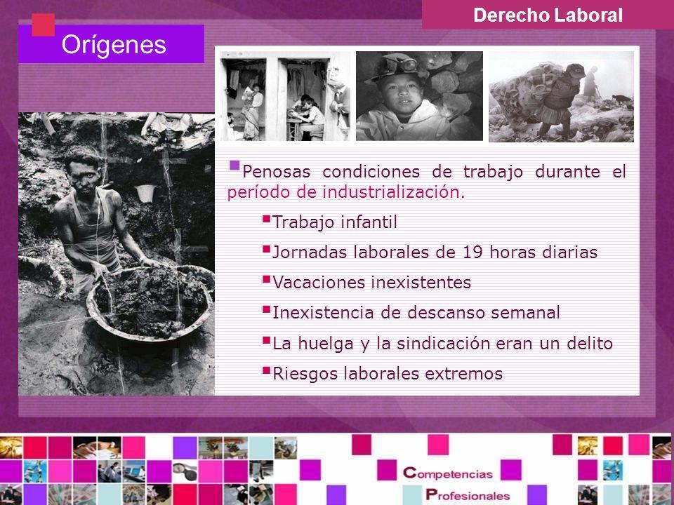 Orígenes Derecho Laboral