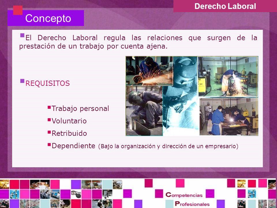 Concepto Derecho Laboral