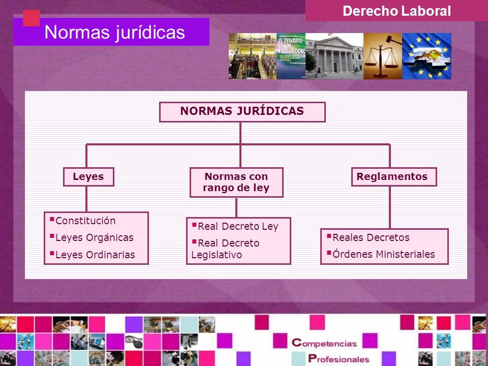Normas jurídicas Derecho Laboral NORMAS JURÍDICAS Leyes