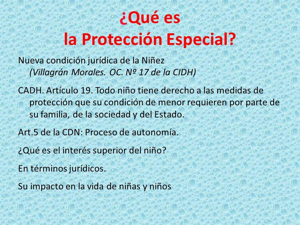 ¿Qué es la Protección Especial