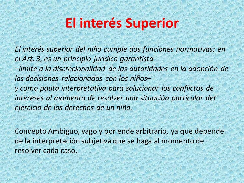 El interés Superior