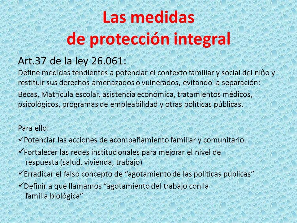 Las medidas de protección integral