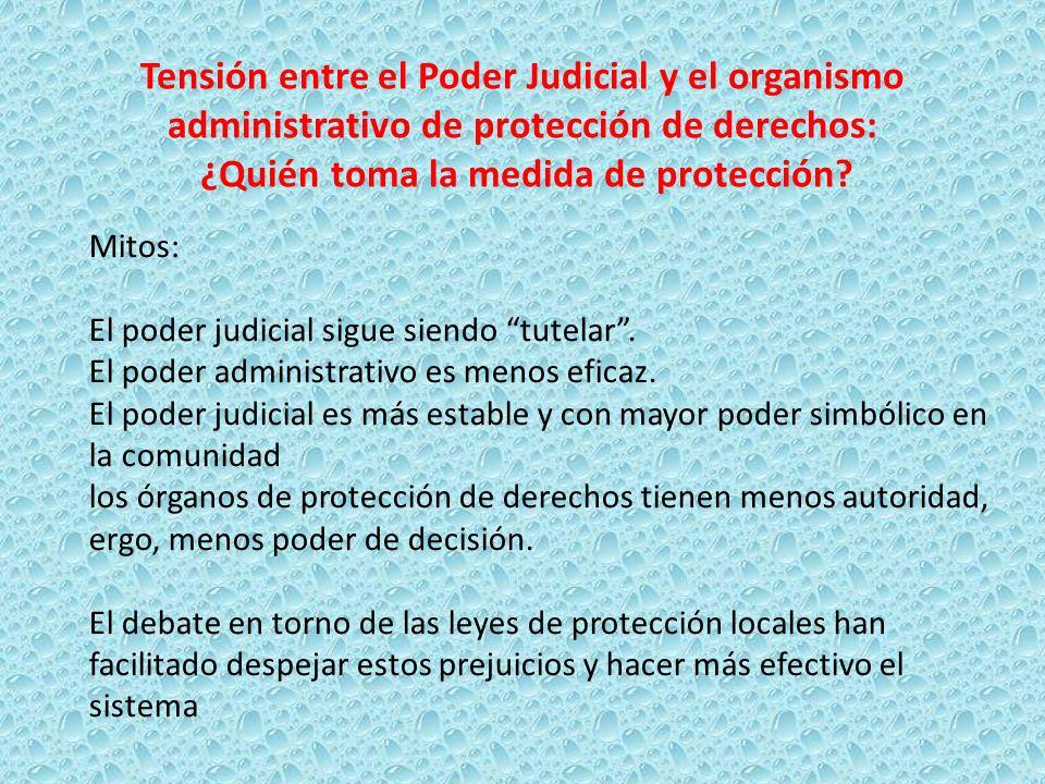 Tensión entre el Poder Judicial y el organismo administrativo de protección de derechos: ¿Quién toma la medida de protección