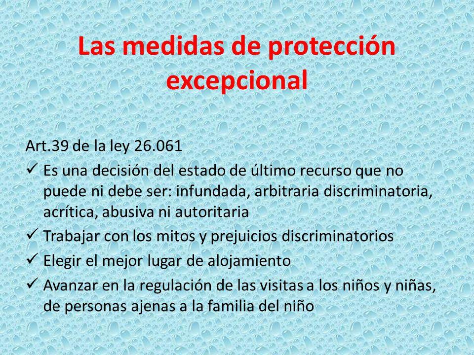 Las medidas de protección excepcional