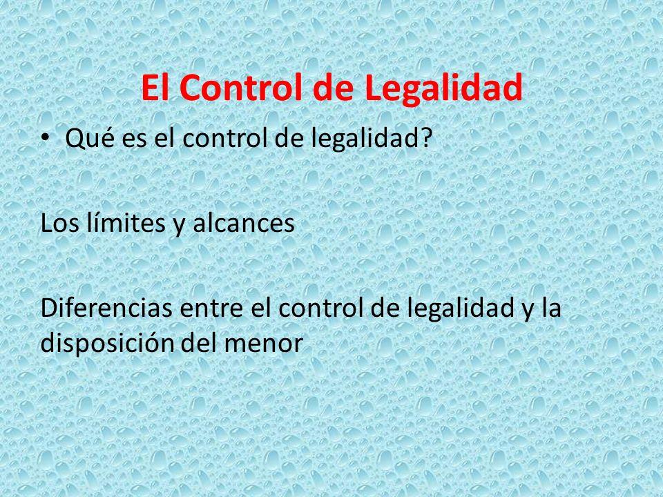 El Control de Legalidad