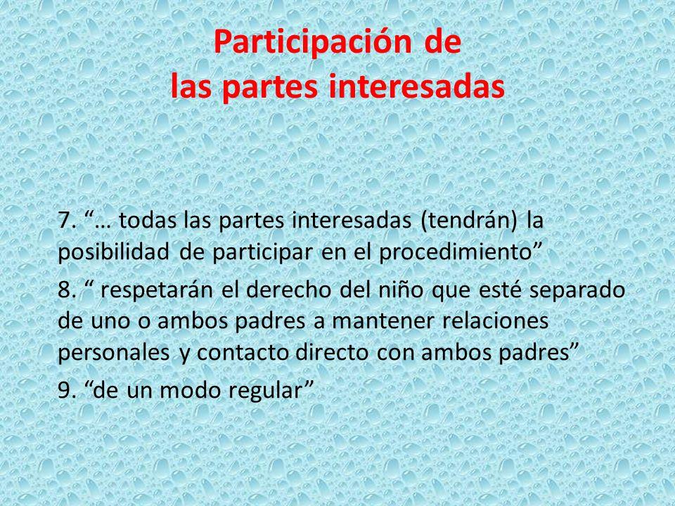 Participación de las partes interesadas