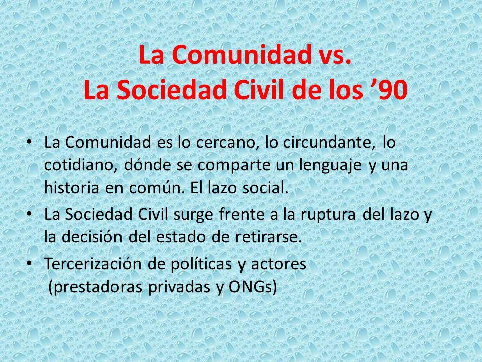 La Comunidad vs. La Sociedad Civil de los '90