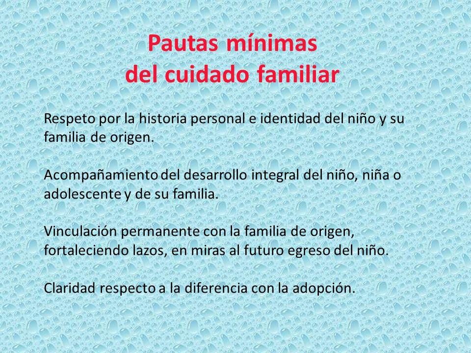 Pautas mínimas del cuidado familiar