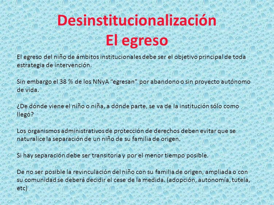 Desinstitucionalización El egreso