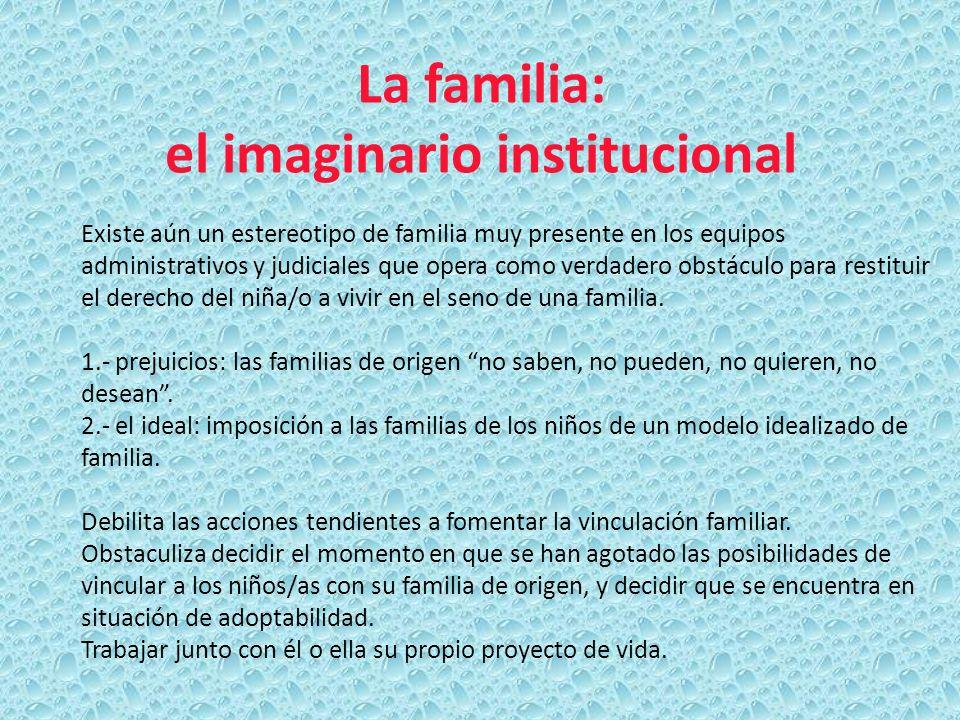 La familia: el imaginario institucional