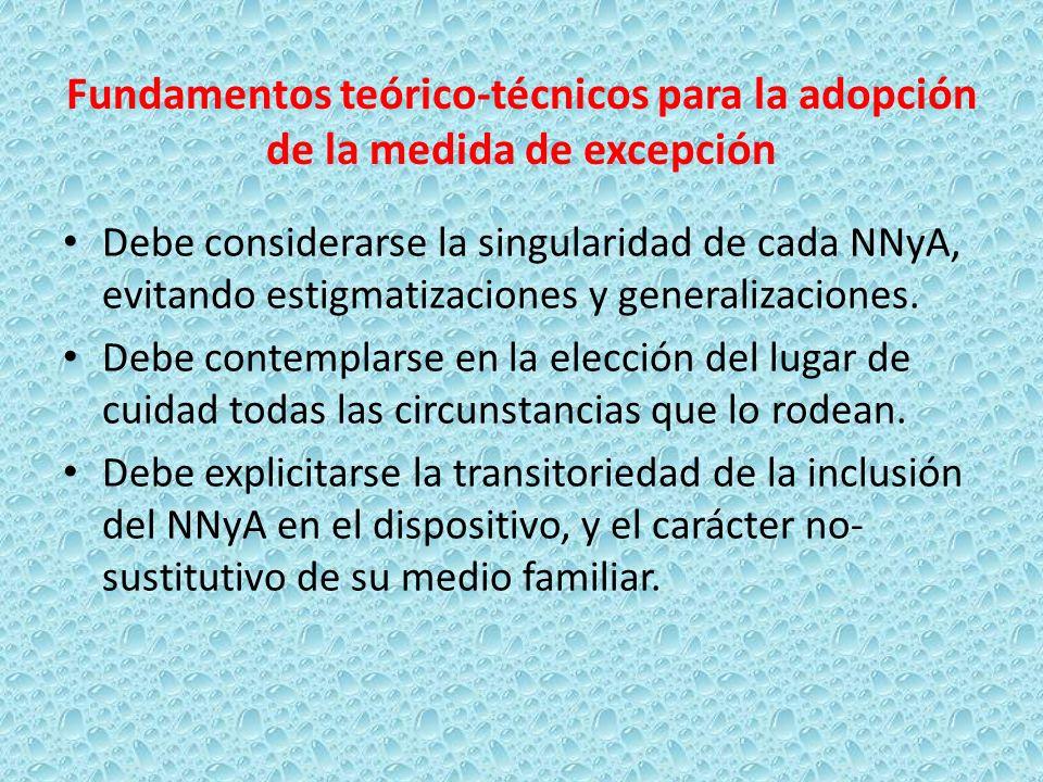 Fundamentos teórico-técnicos para la adopción de la medida de excepción