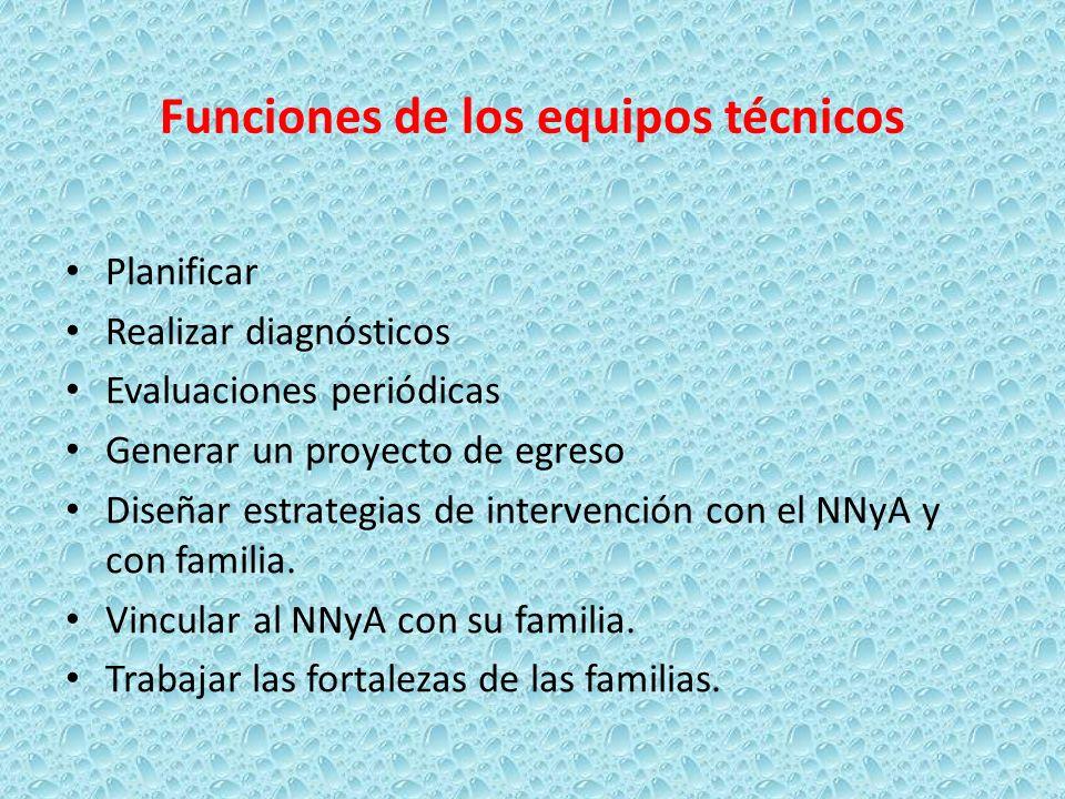 Funciones de los equipos técnicos