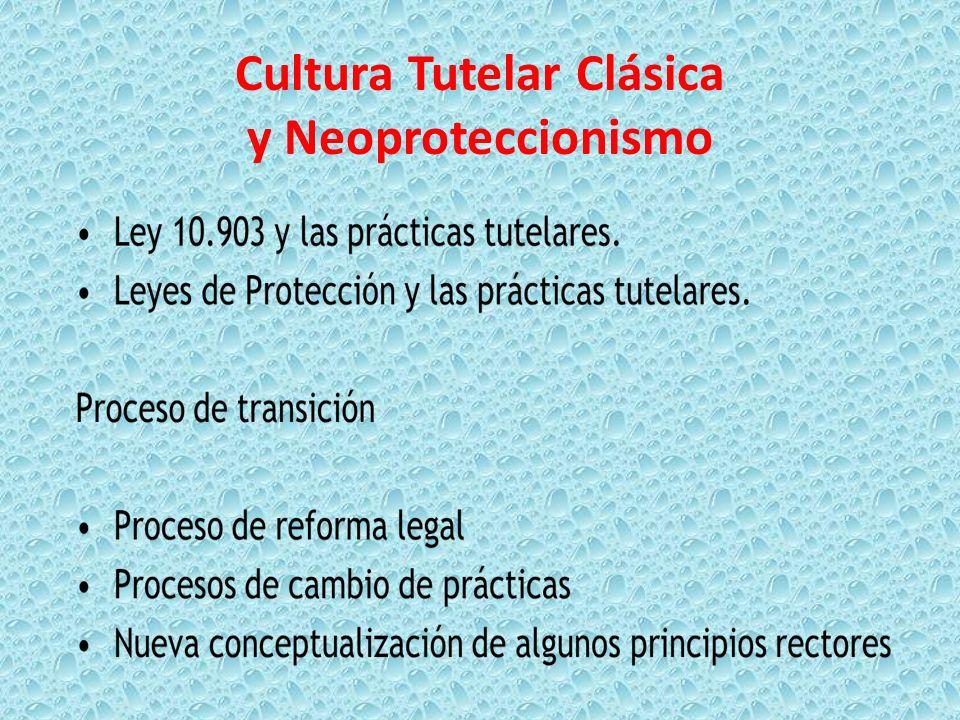 Cultura Tutelar Clásica y Neoproteccionismo