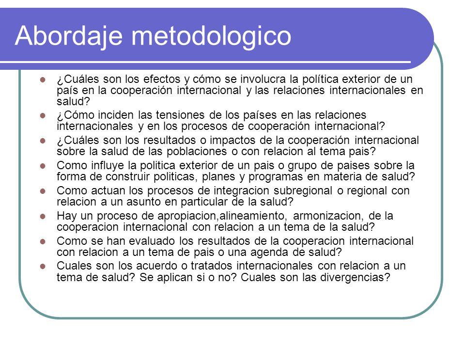 Abordaje metodologico