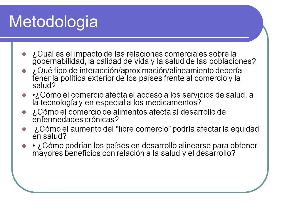 Metodologia ¿Cuál es el impacto de las relaciones comerciales sobre la gobernabilidad, la calidad de vida y la salud de las poblaciones