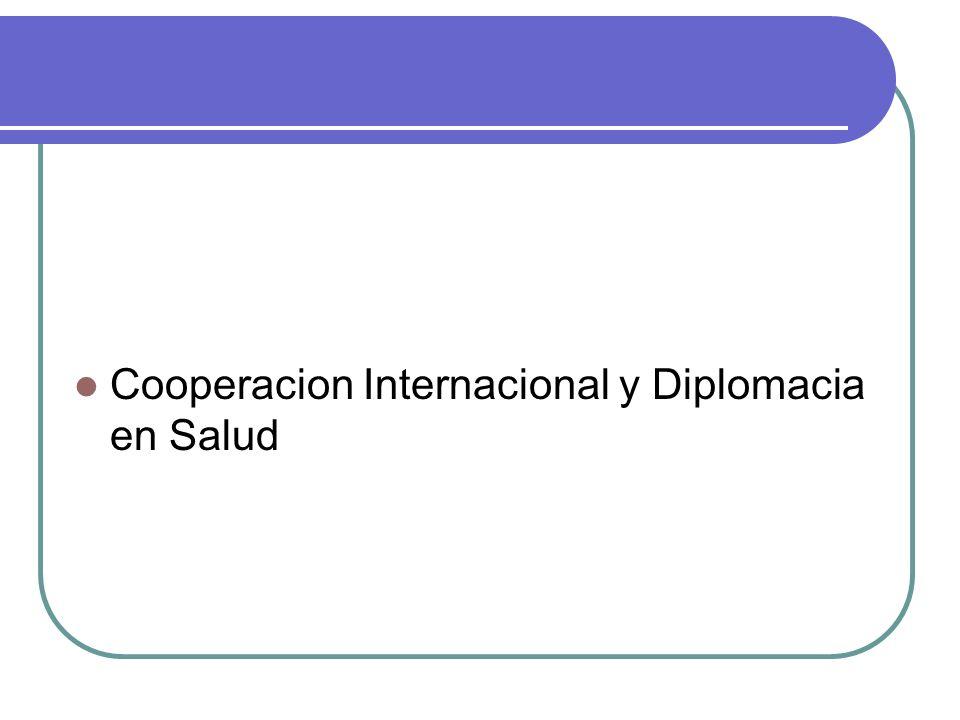 Cooperacion Internacional y Diplomacia en Salud