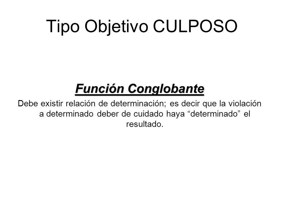 Tipo Objetivo CULPOSO Función Conglobante