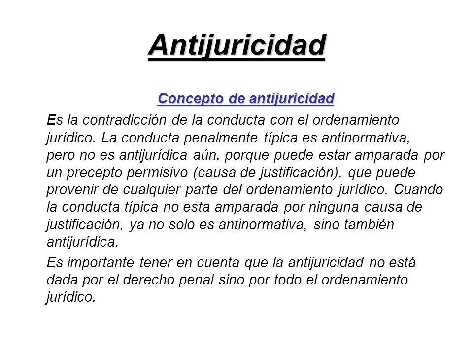Concepto de antijuricidad
