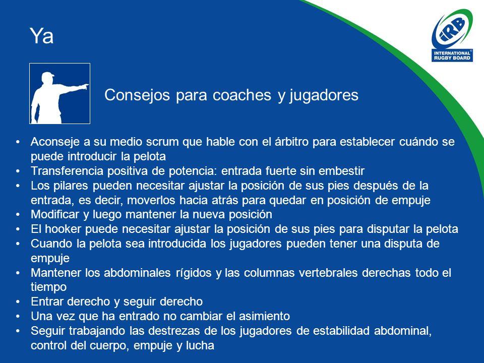 Ya Consejos para coaches y jugadores