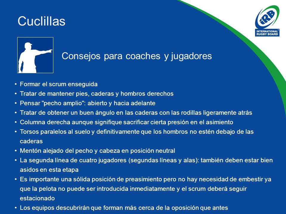 Cuclillas Consejos para coaches y jugadores Formar el scrum enseguida