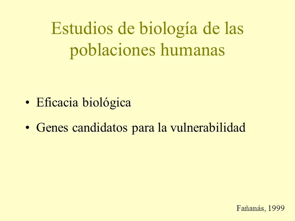 Estudios de biología de las poblaciones humanas