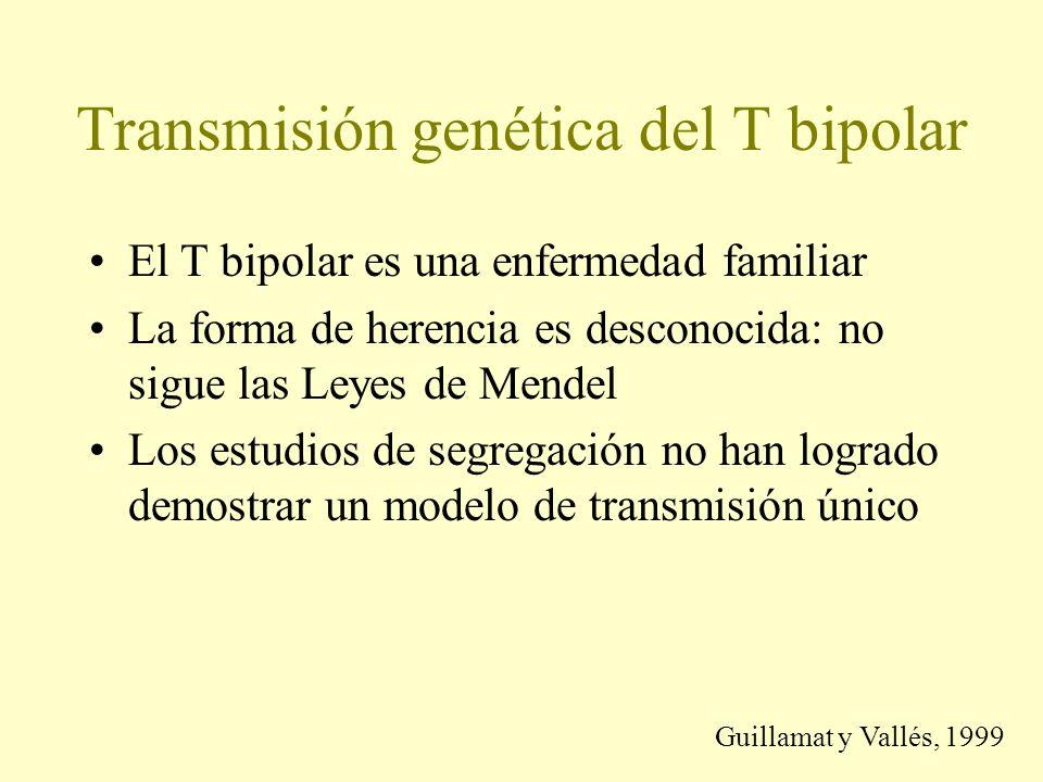 Transmisión genética del T bipolar