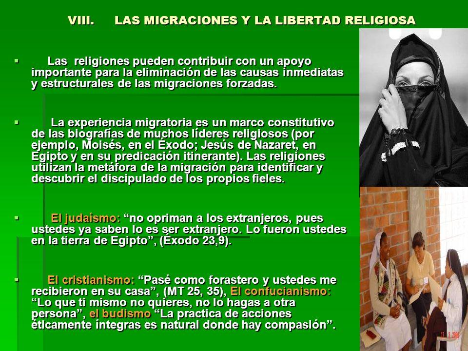 VIII. LAS MIGRACIONES Y LA LIBERTAD RELIGIOSA