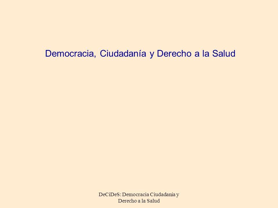 Democracia, Ciudadanía y Derecho a la Salud