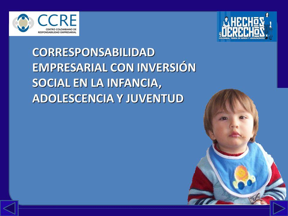 CORRESPONSABILIDAD EMPRESARIAL CON INVERSIÓN SOCIAL EN LA INFANCIA, ADOLESCENCIA Y JUVENTUD