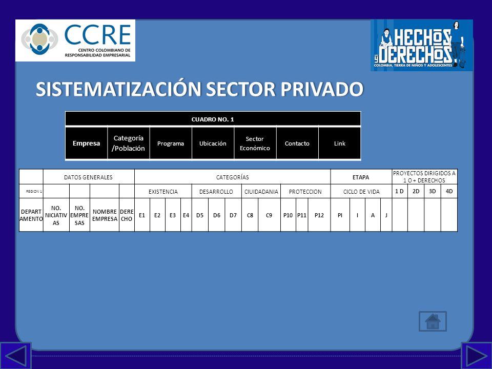 PROYECTOS DIRIGIDOS A 1 O + DERECHOS