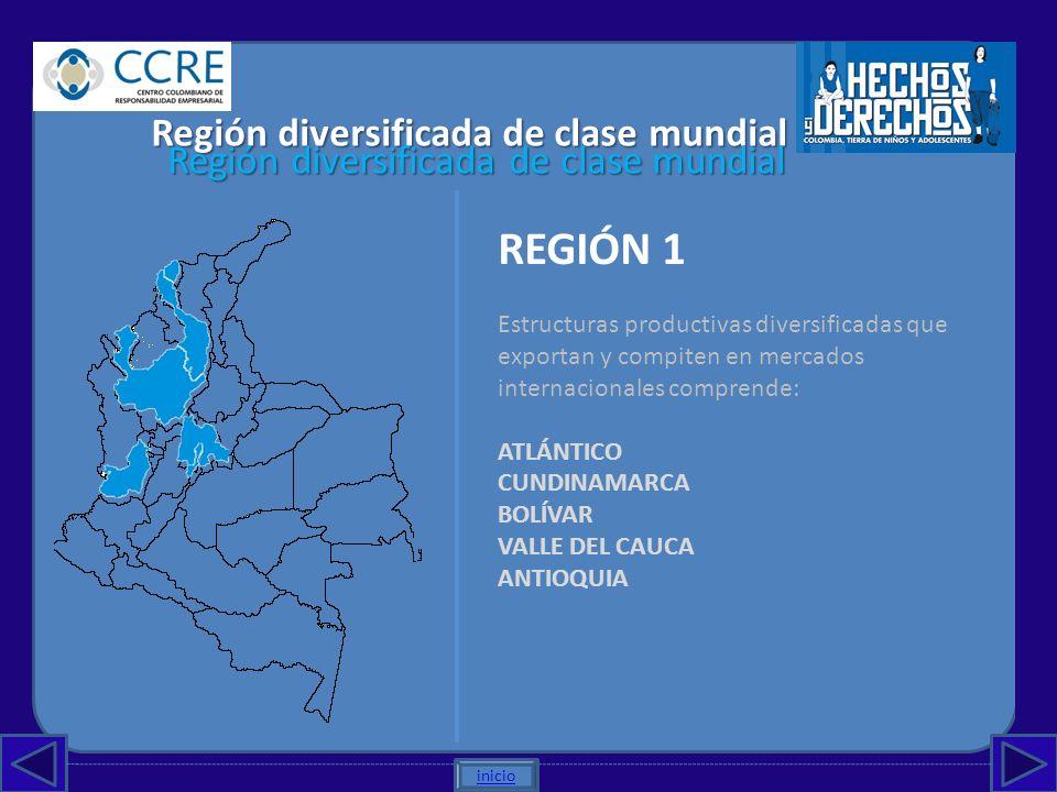 REGIÓN 1 Región diversificada de clase mundial