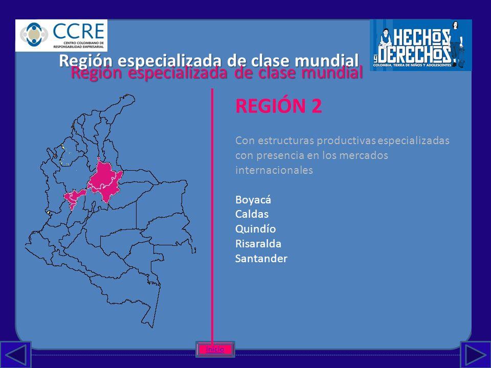 REGIÓN 2 Región especializada de clase mundial