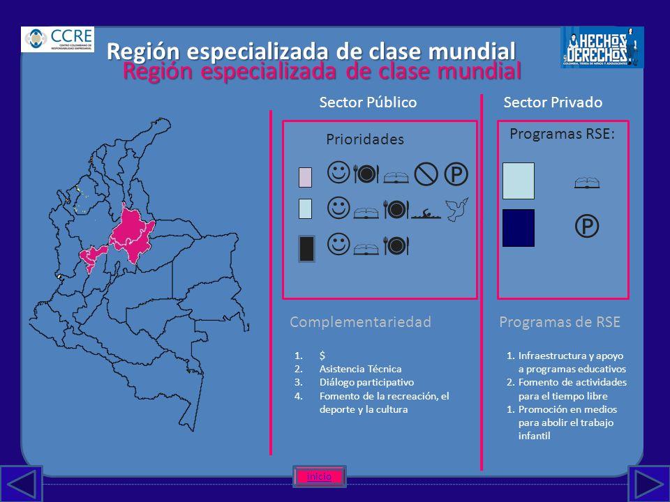      Región especializada de clase mundial