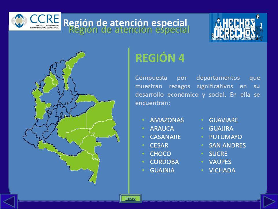 REGIÓN 4 Región de atención especial Región de atención especial