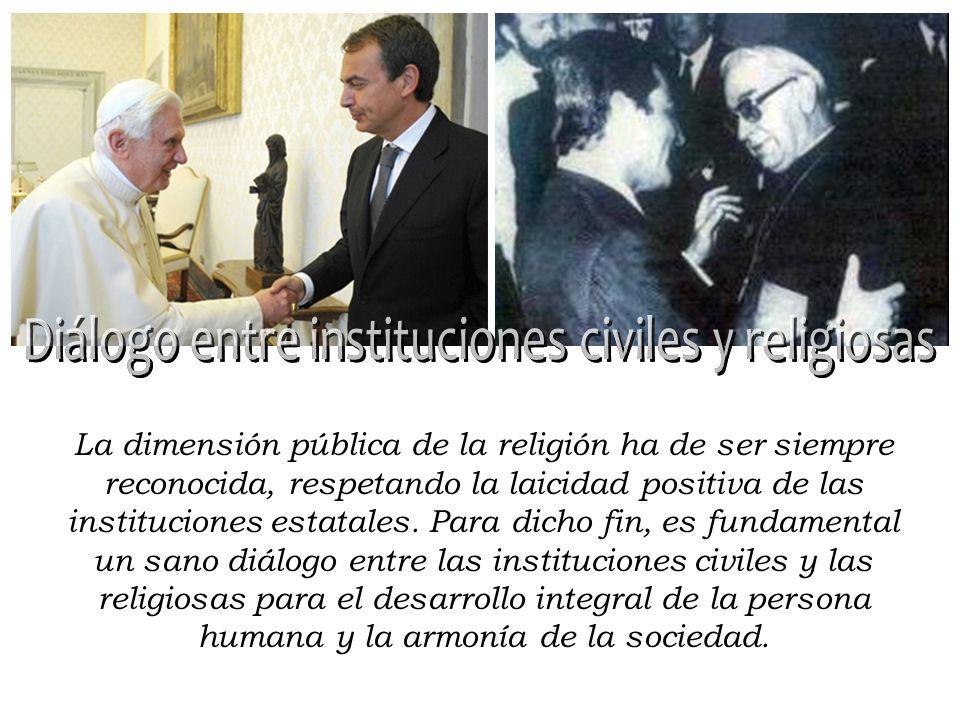 Diálogo entre instituciones civiles y religiosas