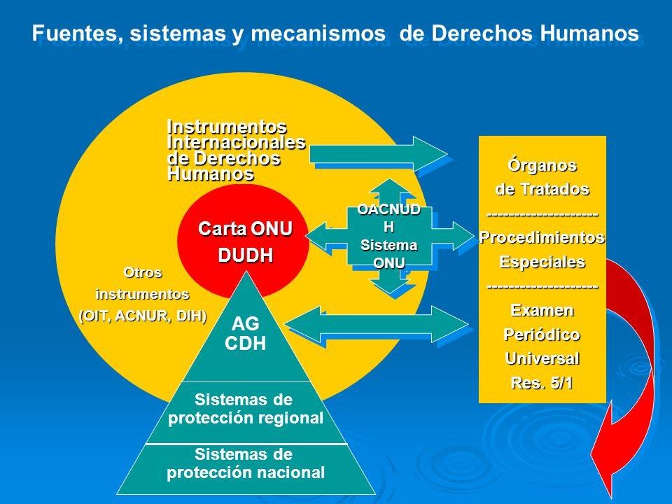 Fuentes, sistemas y mecanismos de Derechos Humanos