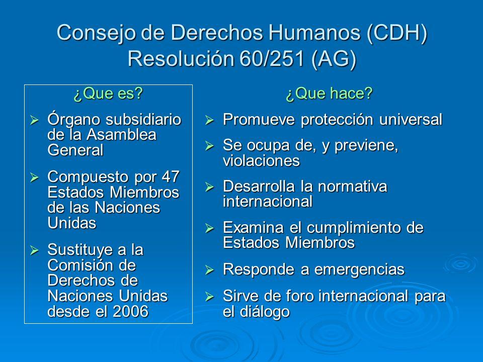 Consejo de Derechos Humanos (CDH) Resolución 60/251 (AG)