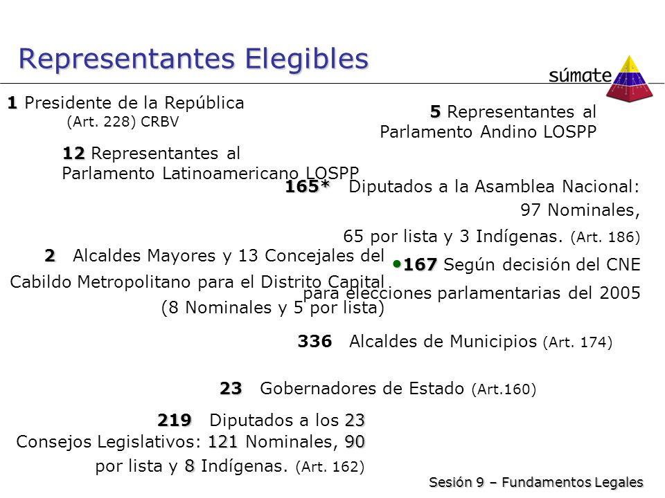 Representantes Elegibles