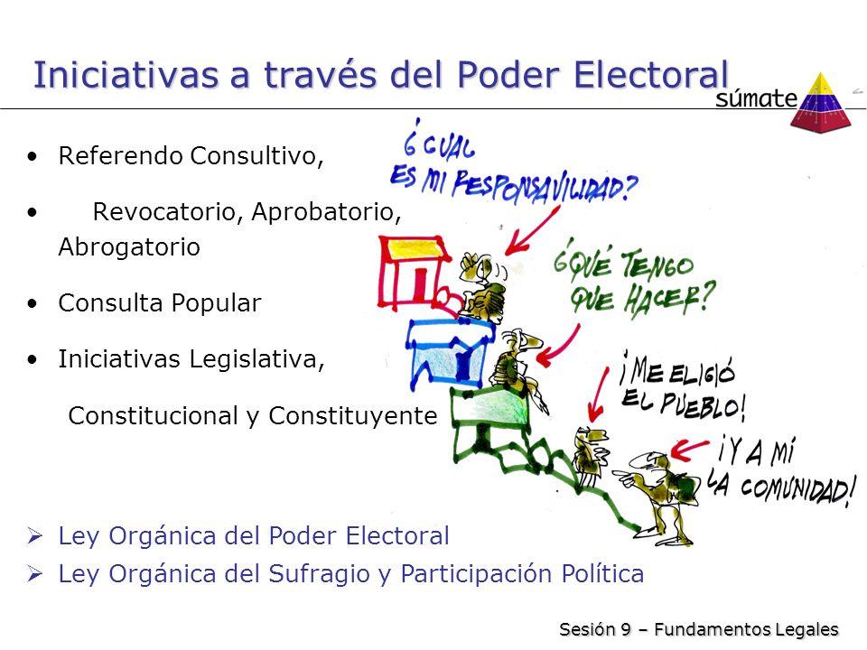 Iniciativas a través del Poder Electoral