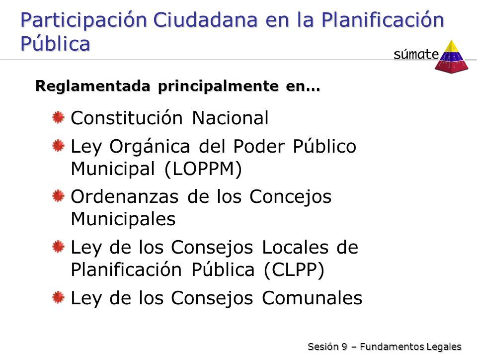 Participación Ciudadana en la Planificación Pública